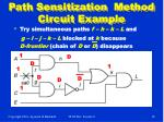 path sensitization method circuit example18