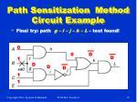 path sensitization method circuit example19