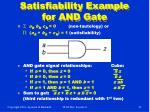 satisfiability example for and gate