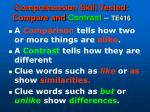 comprehension skill tested compare and contrast te416