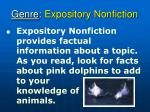 genre expository nonfiction