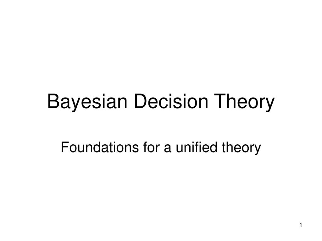 bayesian decision theory l.