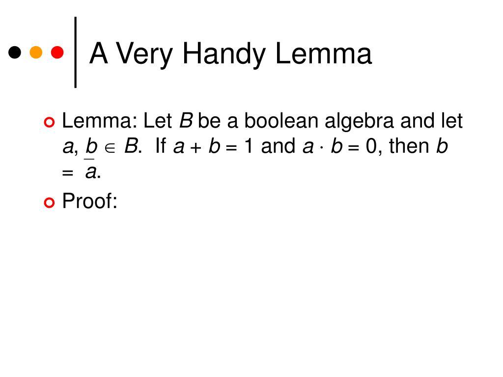 A Very Handy Lemma
