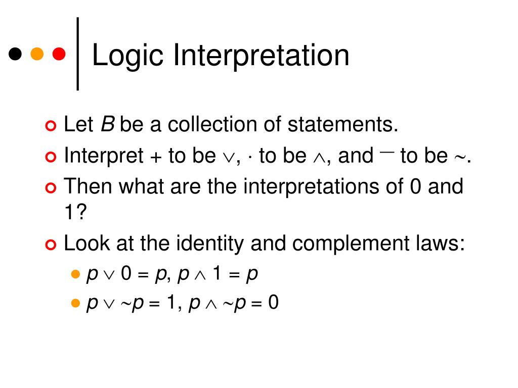 Logic Interpretation