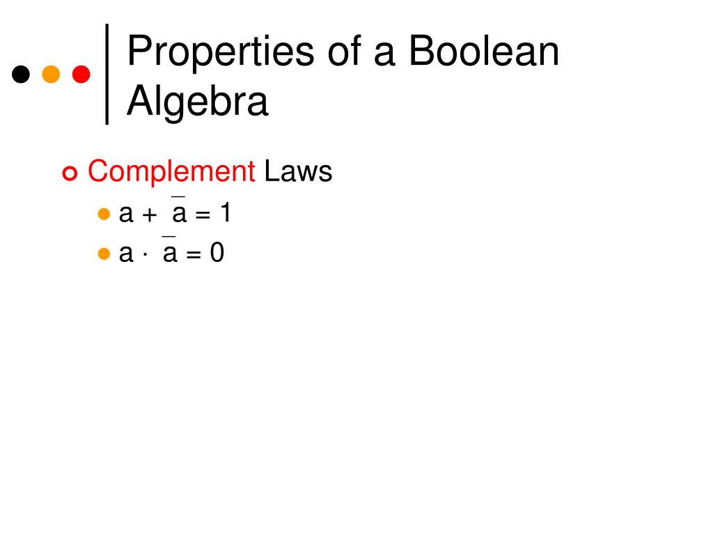 Properties of a Boolean Algebra