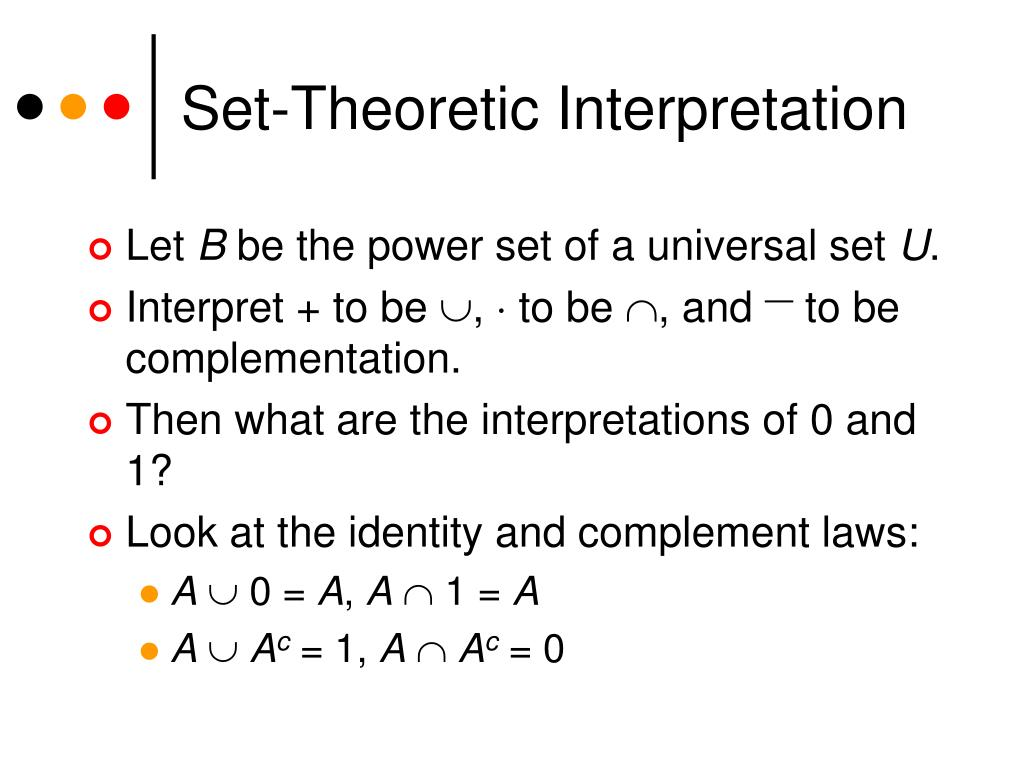 Set-Theoretic Interpretation