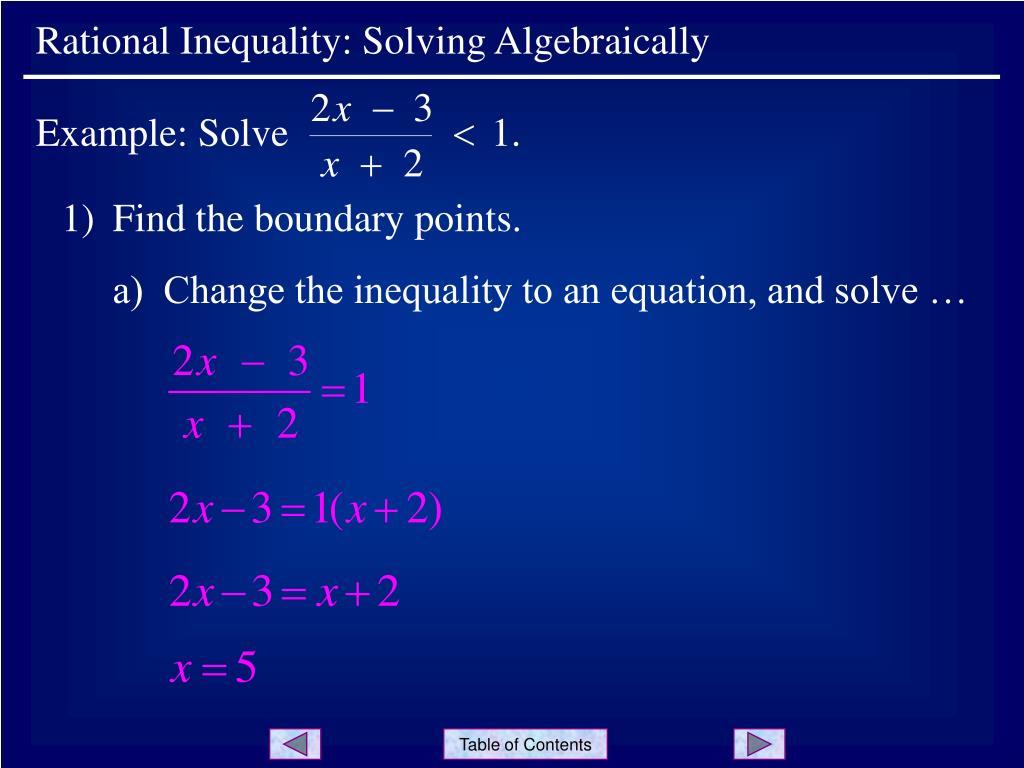 Example: Solve