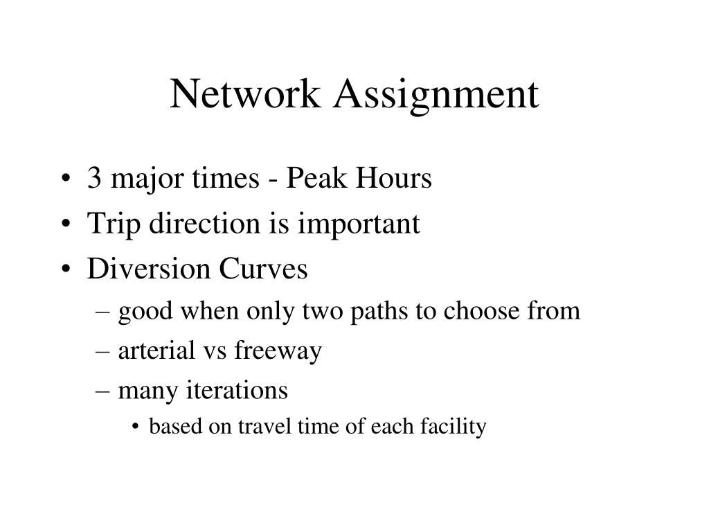 Network Assignment