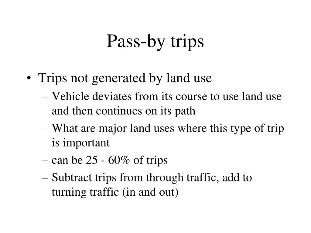 Pass-by trips