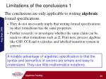 limitations of the conclusions 1