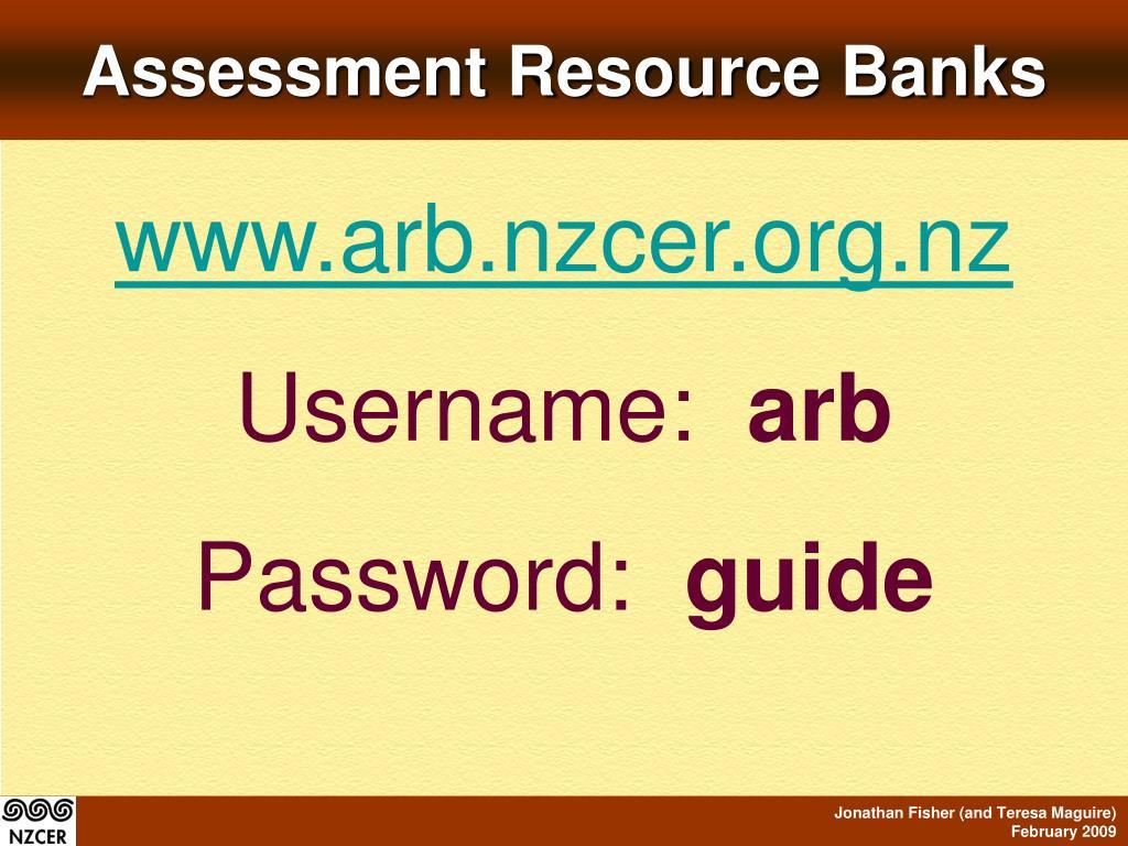 Assessment Resource Banks