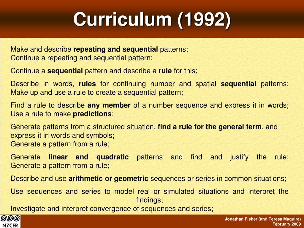 Curriculum (1992)