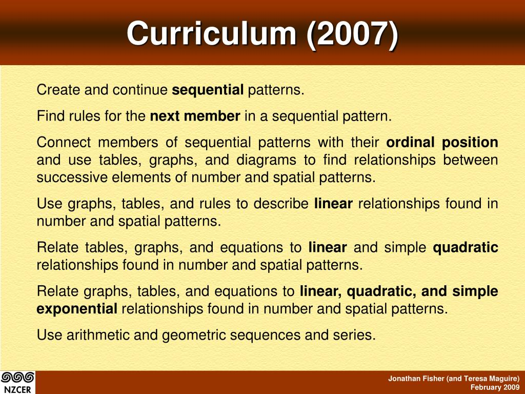 Curriculum (2007)
