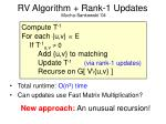 rv algorithm rank 1 updates27