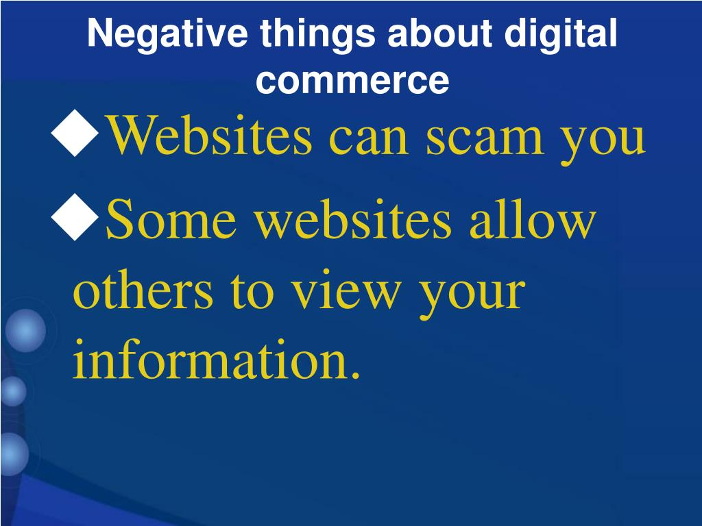 Websites can scam you