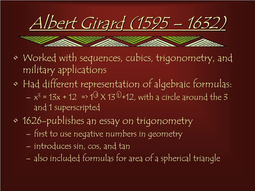 Albert Girard (1595 – 1632)