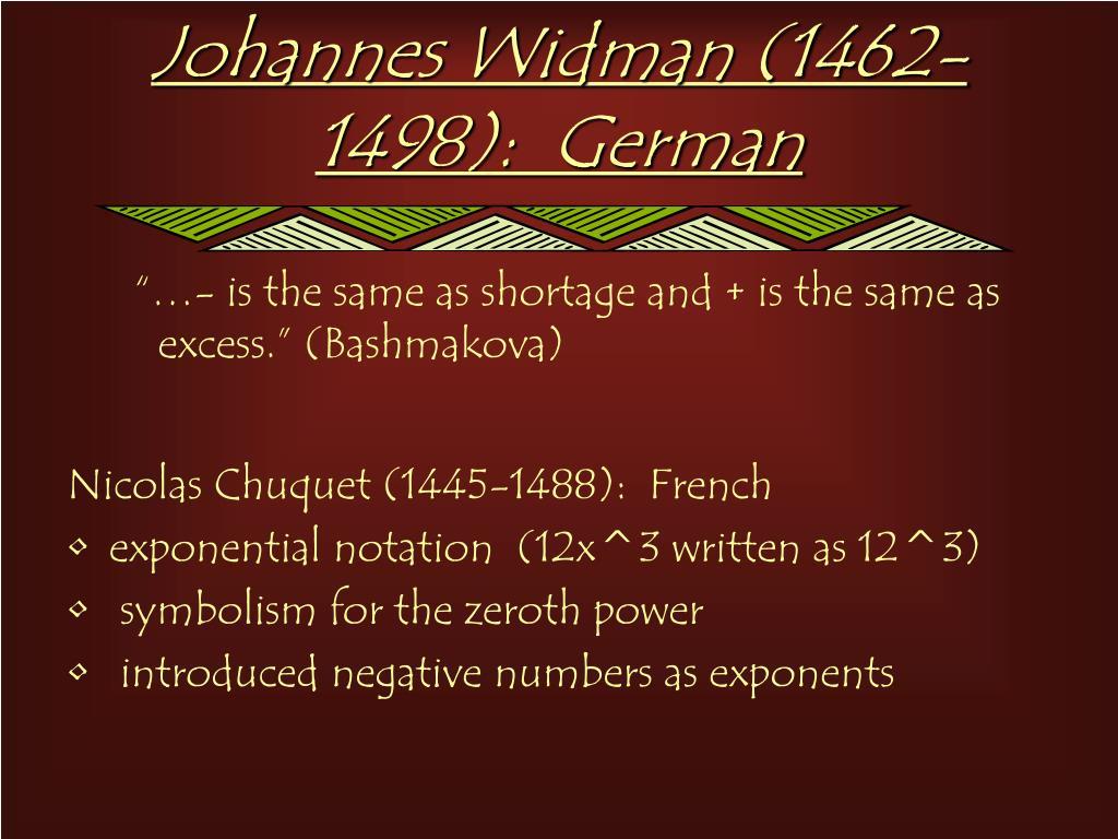 Johannes Widman (1462-1498):  German