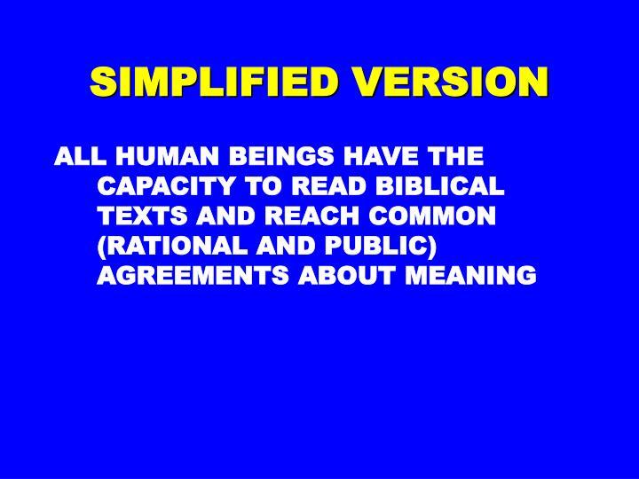 Simplified version
