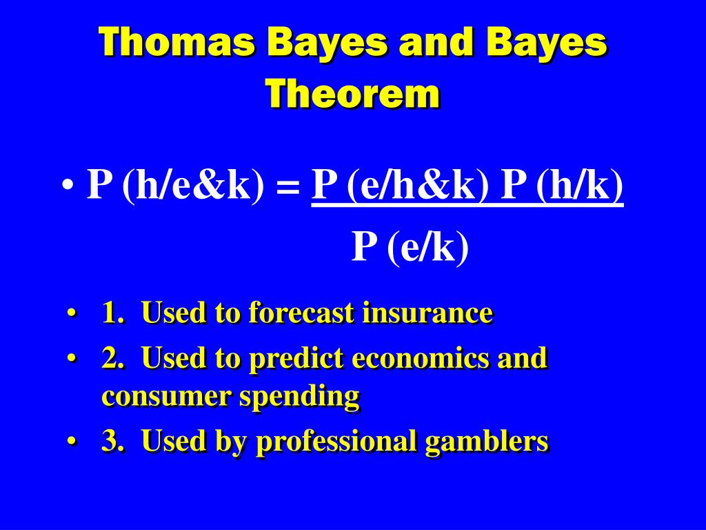 Thomas Bayes and Bayes Theorem