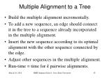 multiple alignment to a tree