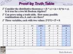 proof by truth table