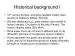 historical background i