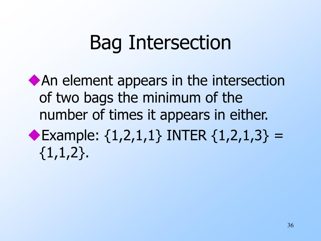 Bag Intersection