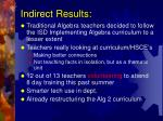 indirect results