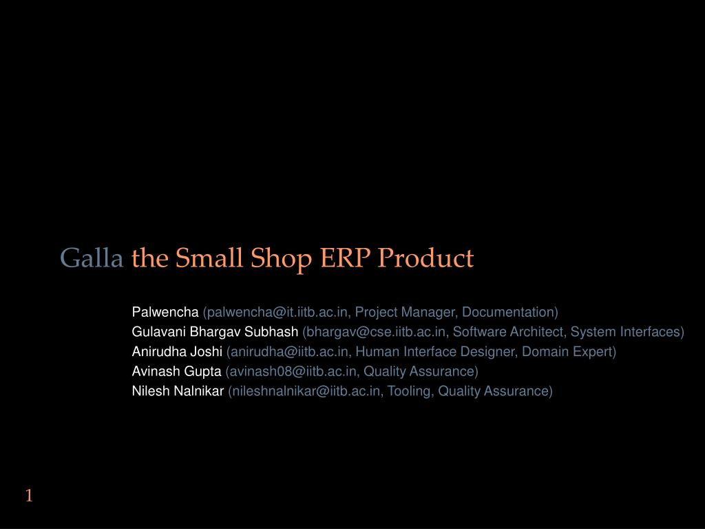 galla the small shop erp product l.