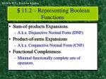 11 2 representing boolean functions