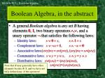 boolean algebra in the abstract