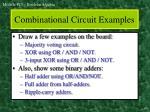 combinational circuit examples