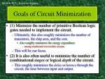 goals of circuit minimization