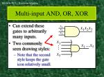 multi input and or xor