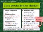 some popular boolean identities