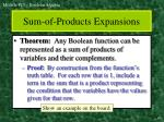 sum of products expansions