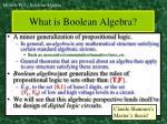 what is boolean algebra