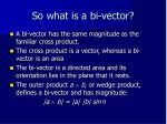 so what is a bi vector
