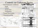 controls on carbonate facies
