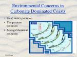 environmental concerns in carbonate dominated coasts