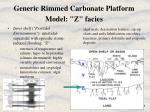 generic rimmed carbonate platform model z facies