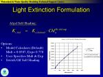 light extinction formulation