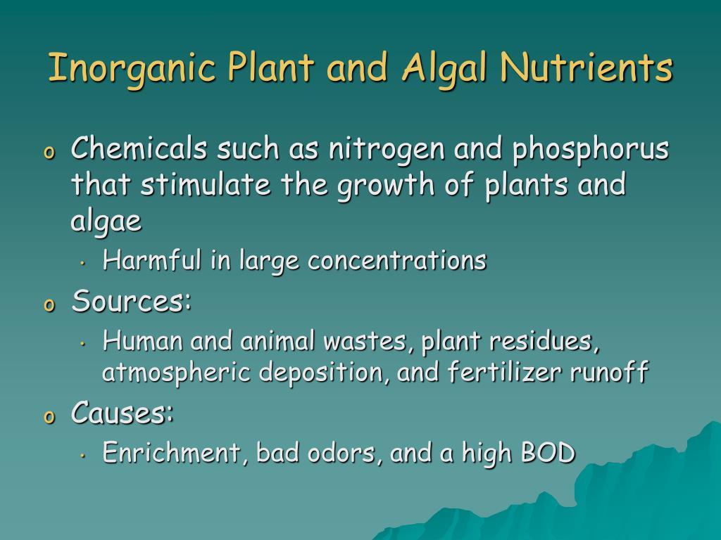 Inorganic Plant and Algal Nutrients