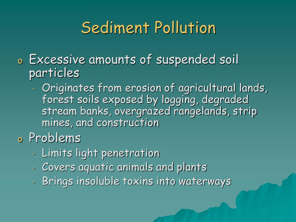 Sediment Pollution