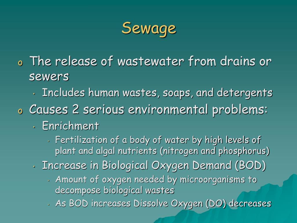 Sewage