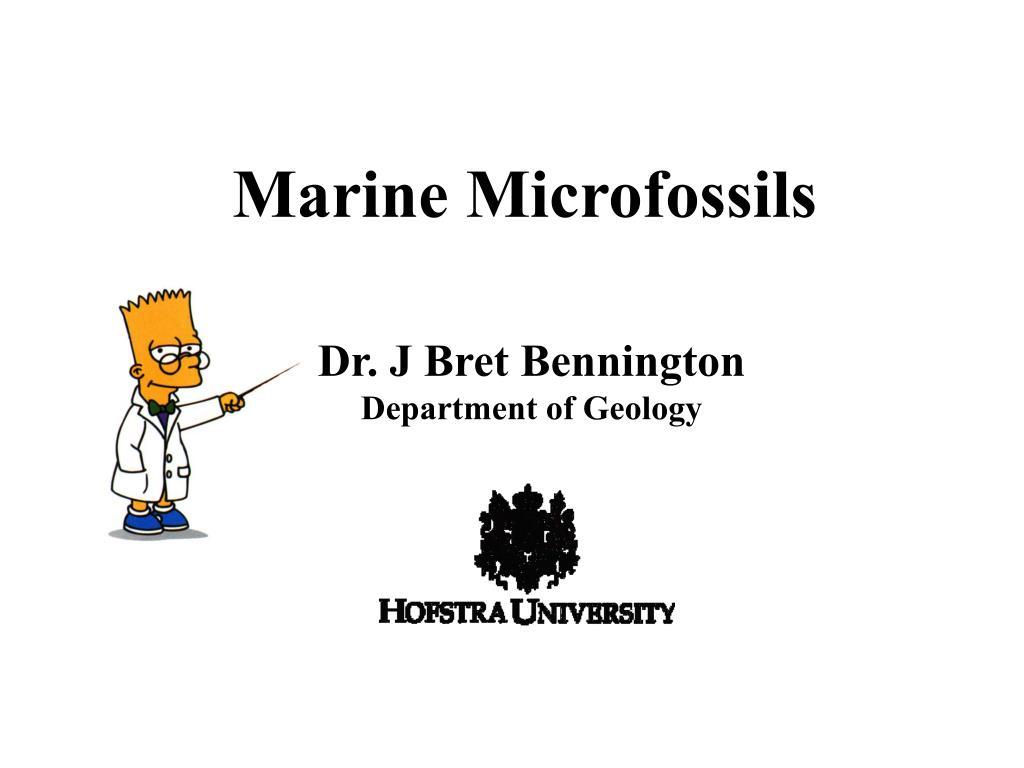 marine microfossils l.