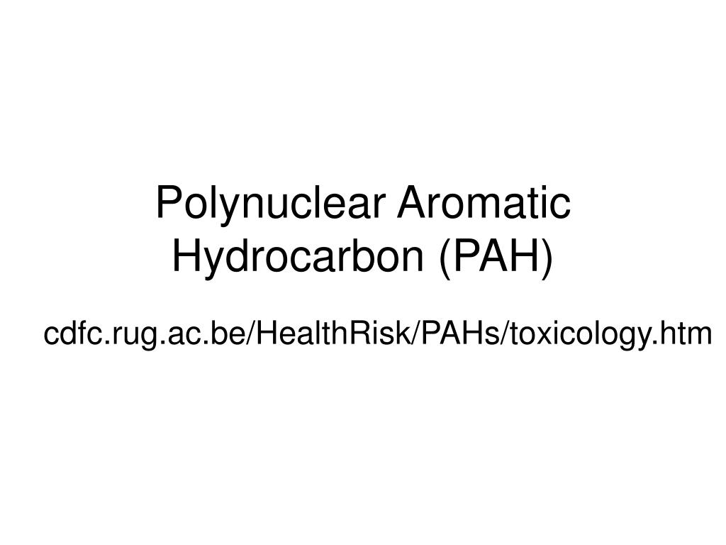 polynuclear aromatic hydrocarbon pah l.