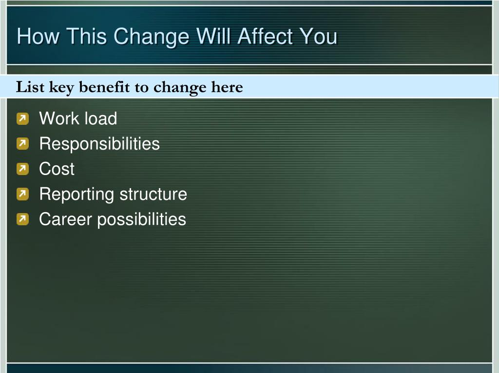 List key benefit to change here