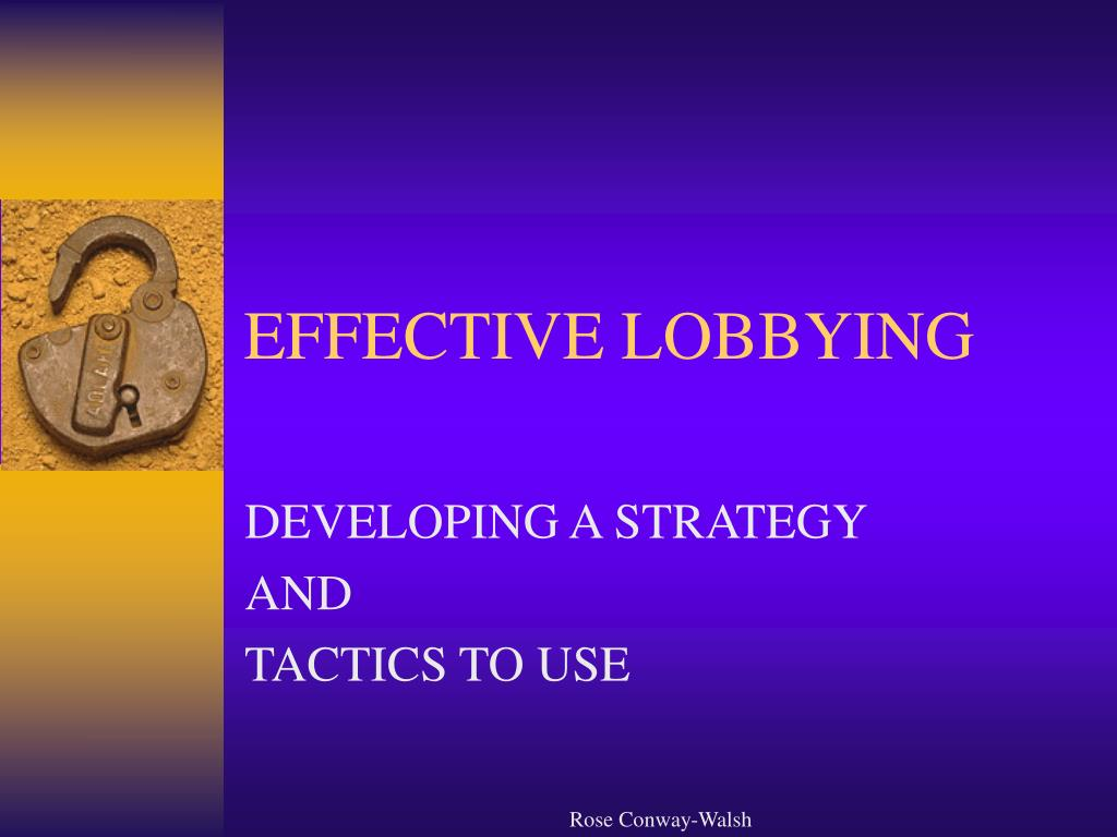 effective lobbying l.