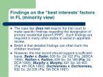 findings on the best interests factors in fl minority view